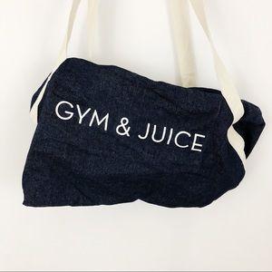 Gym & Juice Denim Duffle  |D10